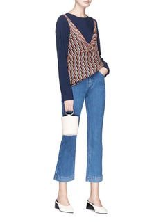 Co Cropped letout flared jeans