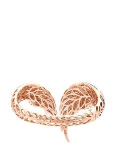 Wendy Yue Diamond 18k rose gold wing bangle