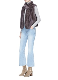 FLAMINGO Mink fur short gilet