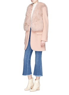 FLAMINGO Fox fur short gilet