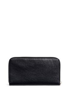 Balenciaga Stud crinkled lambskin continental wallet