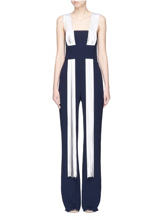 Main View - Click To Enlarge - Galvan London - Fringe suiting jumpsuit