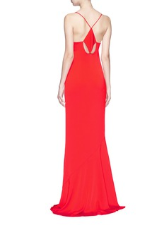Galvan London Diamond cutout crepe maxi dress