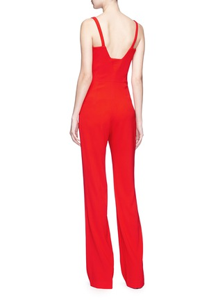 Back View - Click To Enlarge - Galvan London - 'Signature' crepe corset jumpsuit