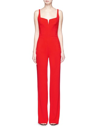 Main View - Click To Enlarge - Galvan London - 'Signature' crepe corset jumpsuit
