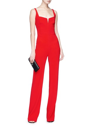 Figure View - Click To Enlarge - Galvan London - 'Signature' crepe corset jumpsuit