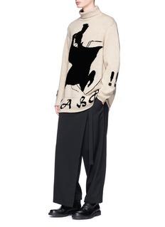 Yohji Yamamoto Samurai intarsia wool turtleneck sweater