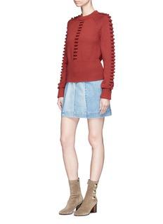 Chloé Bobble knit pompom raglan sweater