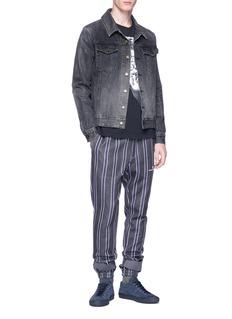 UNDERCOVER Strap detail stripe sweatpants