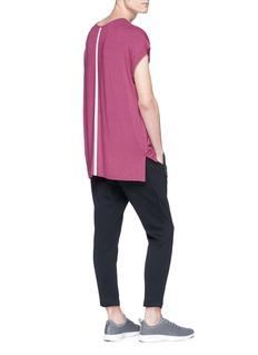 SIKI IM CROSS Reflective trim layered T-shirt
