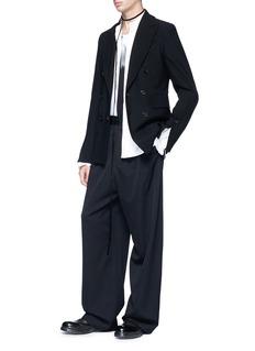 ANN DEMEULEMEESTER 'Holt' detachable ruffle cuff shirt