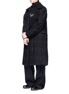 ANN DEMEULEMEESTER 'L'Avenir' print turtleneck terry towelling sweater