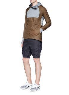 NikeLab Ripstop panel asymmetric zip hoodie
