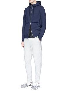 NikeLab 'Essentials' Swoosh logo print zip hoodie