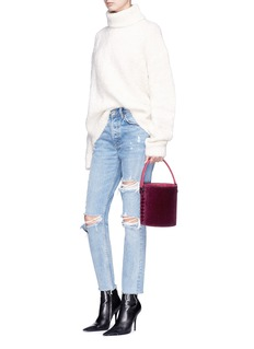 Meli Melo 'Santina' mini velvet drawstring bucket bag
