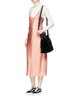 Meli Melo 'Hazel' drawstring velvet crossbody bag