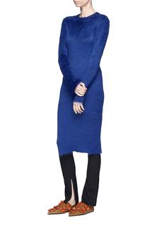Ports 1961 Brushed mohair blend rib knit dress