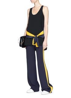 VICTORIA, VICTORIA BECKHAM Silk waist sash crepe sleeveless top
