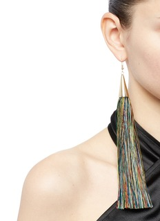 Eddie Borgo Long silk tassel earrings