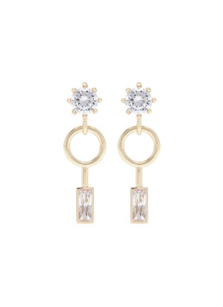 Main View - Click To Enlarge - Eddie Borgo - Cubic zirconia geometric drop earrings
