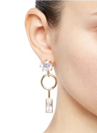 Figure View - Click To Enlarge - Eddie Borgo - Cubic zirconia geometric drop earrings