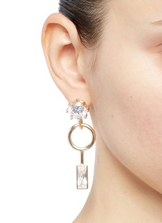 Eddie Borgo Cubic zirconia geometric drop earrings