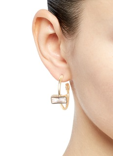 Eddie Borgo Cubic zirconia hoop earrings