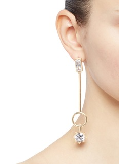Eddie Borgo Cubic zirconia ring bar drop earrings