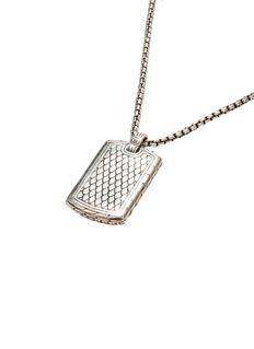 John Hardy Silver dog tag necklace