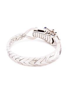 John Hardy Sapphire spinel silver naga weave effect bracelet