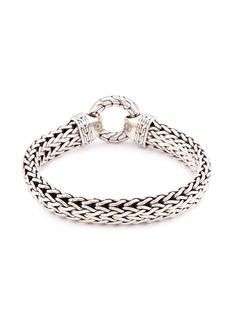 John Hardy Silver large woven chain bracelet