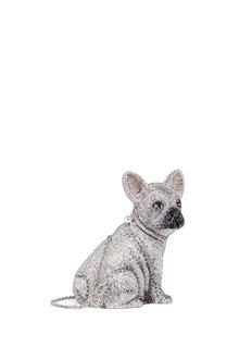 Judith Leiber 'French Bulldog' crystal pavé minaudière