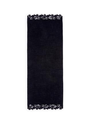 Main View - Click To Enlarge - Janavi - Chantilly lace border Merino wool scarf