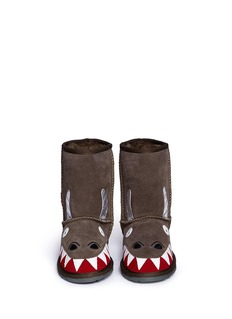 EMU AUSTRALIA Dragon儿童款小飞龙造型绒面羊皮短靴