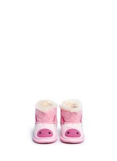 EMU AUSTRALIA 'Piggy Walker' faux pony hair infant boots
