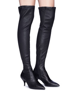Pedder Red 'Darin' stretch nappa leather thigh high boots