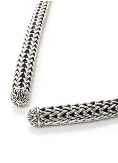 John Hardy Silver woven chain lariat necklace