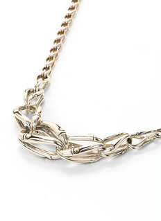 John Hardy Silver bamboo loop chain necklace