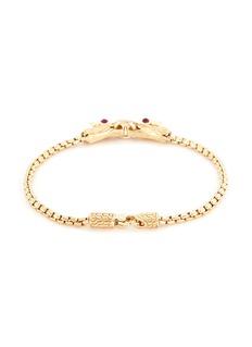 John Hardy Diamond ruby 18k yellow gold naga chain bracelet