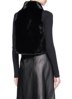 Isla 'Karen' mink fur short gilet