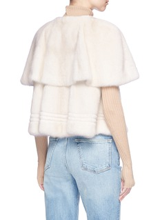 Isla 'Blink' mink fur short cape