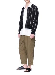 3.1 Phillip Lim Reversible paint stripe bomber jacket