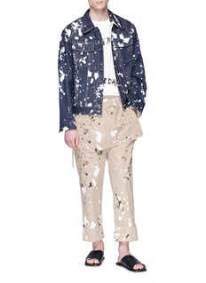 3.1 Phillip Lim Paint splatter twill apron pants