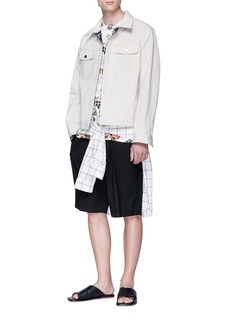 3.1 Phillip Lim Ribbed waistband wool Bermuda shorts