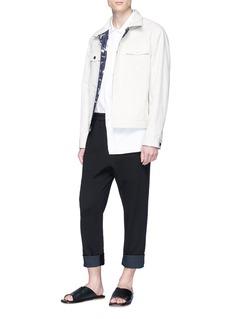 3.1 Phillip Lim Raw cuff cropped sweatpants