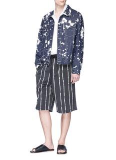 3.1 Phillip Lim Paint pinstripe sweat shorts