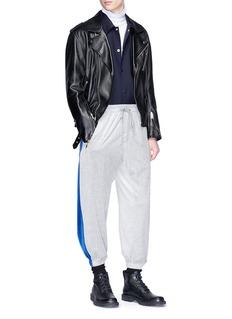 3.1 Phillip Lim Stripe shoulder coach jacket