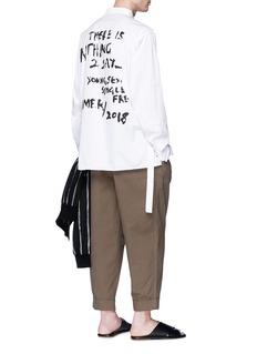 3.1 Phillip Lim Belted slogan print oversized painter shirt