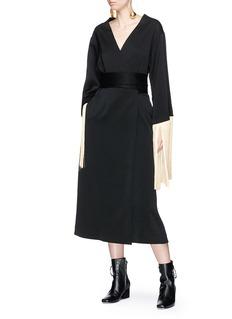 Ellery 'Ritz' fringed reversible crepe wrap dress