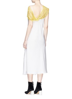 Ellery 'Boorzwah' floral lace panel crepe slip dress